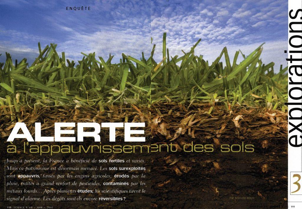 Alerte à l'appauvrissement des sols